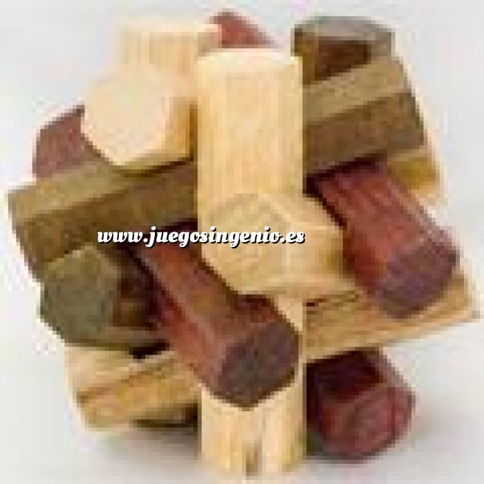 Imagen De madera Esfera hexagonos