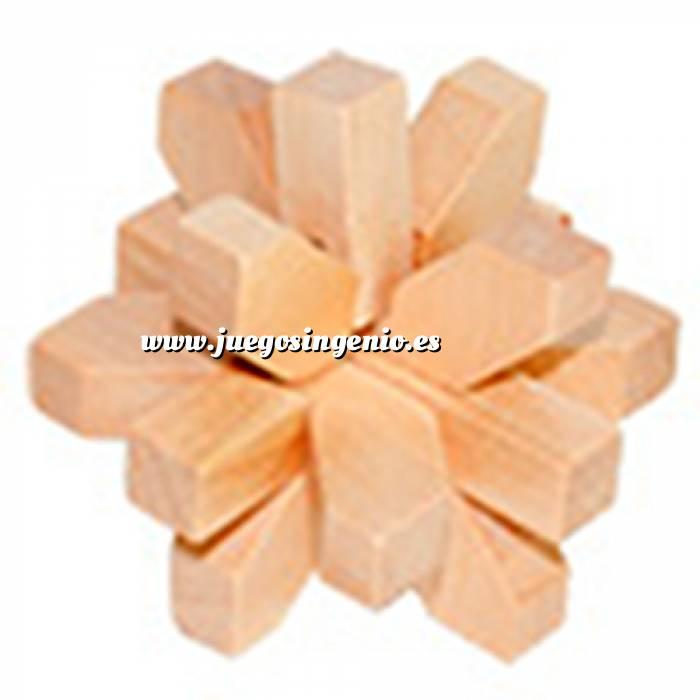 Imagen De madera Estrella 9 piezas madera
