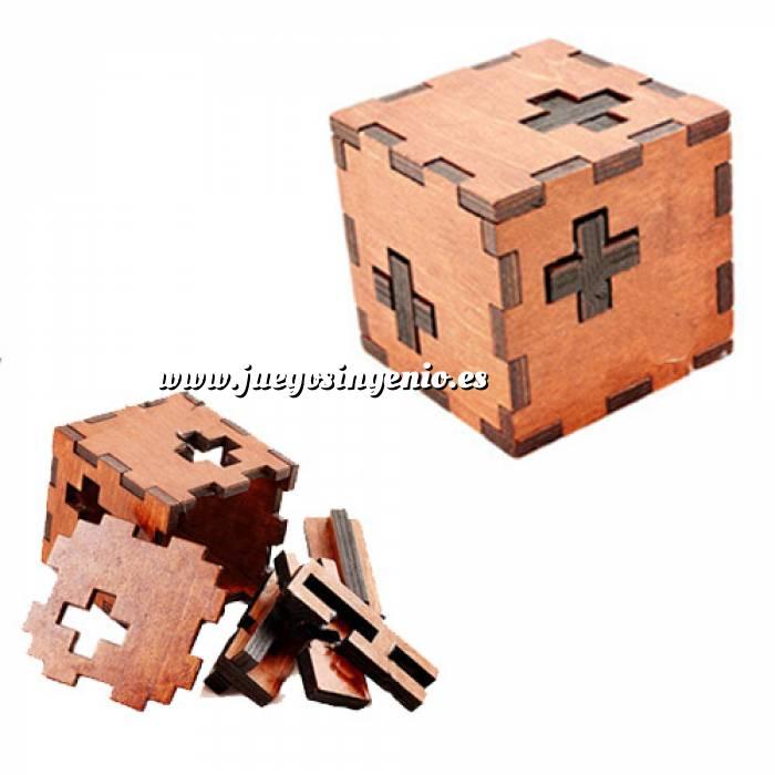 Imagen De madera Cubo puzzle 3 cruces