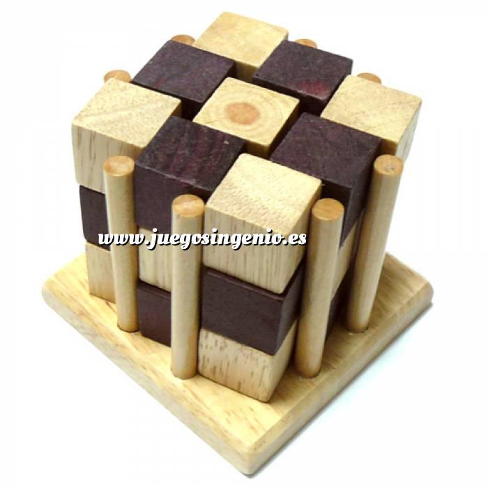 Imagen De madera Cubos encarcelados