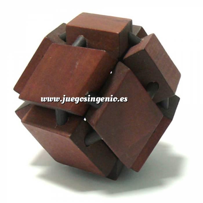 Imagen De madera Esfera Rombos