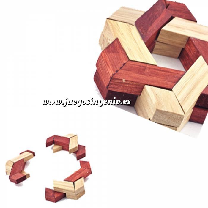 Imagen De madera Estrella Hexagonal - Rompecabezas de ingenio