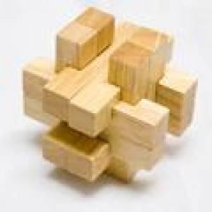 De madera - Cruz madera doble
